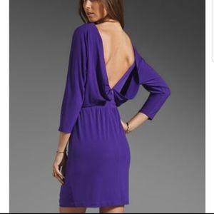 Trina Turk purple open back dress